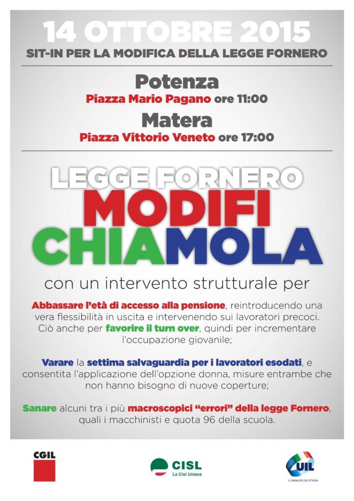 Sit-in riforma legge Fornero @ Potenza | Potenza | Basilicata | Italia